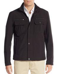 Michael Kors | Black Stand Collar Jacket for Men | Lyst