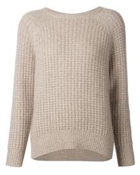 Nili Lotan - Brown Chunky Knit Sweater - Lyst