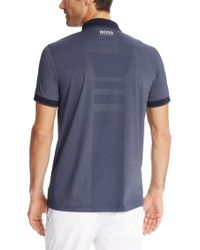 BOSS Green - Blue 'paddy Pro' | Modern Fit, Moisture Manager Polo Shirt for Men - Lyst