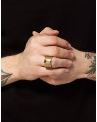 Love Bullets - Metallic Lovebullets Shot Target Ring for Men - Lyst