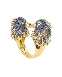 Noir Jewelry - Metallic Beso Pajaro Ring - Lyst