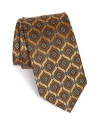 JZ Richards - Yellow Medallion Silk Tie for Men - Lyst