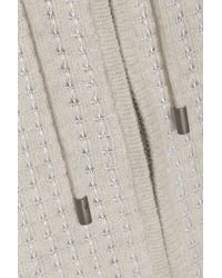 Vince | White Waffle-Knit Cashmere-Blend Hoodie | Lyst