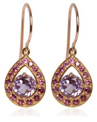 Dinny Hall | Pink Rose Gold Vermeil Amethyst Paola Earrings | Lyst