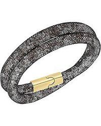 Swarovski - Black Stardust Double Bracelet Medium 40cm - Lyst