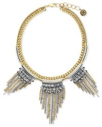 BCBGeneration | Metallic Fringe Drama Necklace for Men | Lyst