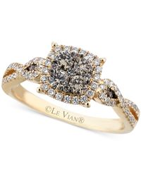 Le Vian | Brown Chocolate (3/8 Ct. T.w.) And White (1/3 Ct. T.w.) Diamond Braided Ring In 14k Gold | Lyst
