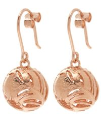 Alex Monroe | Pink Rose Gold-plated Peacock Hook Earrings | Lyst