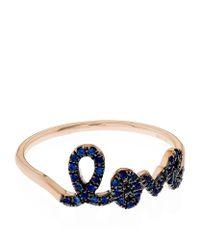 Sydney Evan | Blue Love Script Sapphire Ring | Lyst