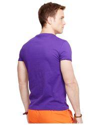 Polo Ralph Lauren | Purple Custom-fit Jersey Crewneck for Men | Lyst