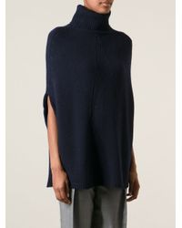 JOSEPH | Blue Cape Style Turtleneck Sweater | Lyst