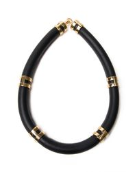 Lizzie Fortunato | Black Double Take Collar Necklace | Lyst
