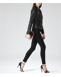 Reiss | Black Stevie Low-rise Skinny Jeans | Lyst