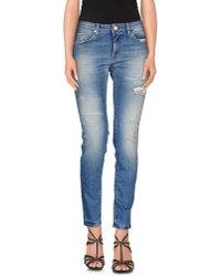 Pinko - Blue Denim Trousers - Lyst