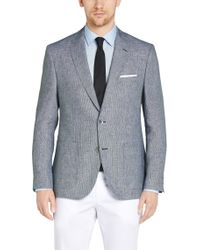BOSS | Gray Regular-fit Jacket In Linen With Mother Of Pearl Buttons: 'janson1' for Men | Lyst