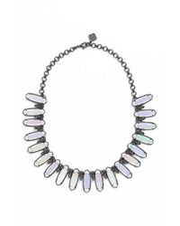 Kendra Scott | Metallic 'mystic Bazaar - Gabriella' Collar Necklace - Gunmetal Iridescent Opalite | Lyst
