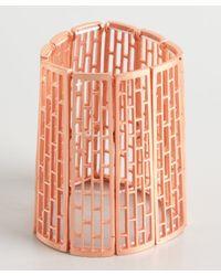 Adia Kibur - Metallic Copper Stretch Lattice Cuff - Lyst