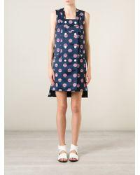 KENZO - Blue 'dots & Stripes' Dress - Lyst