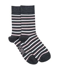 Hobbs - Gray Multi Stripe Sock - Lyst
