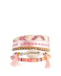 Hipanema - Pink Peace Friendship Bracelet - Lyst