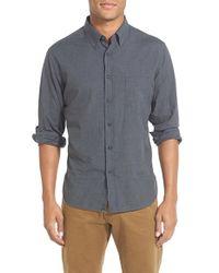 Billy Reid - Gray 'john T' Standard Fit Microcheck Sport Shirt for Men - Lyst