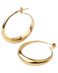 Dinny Hall | Metallic Gold-plated Signature Scoop Hoop Earrings | Lyst