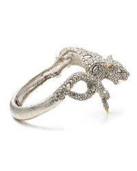 Alexis Bittar | Metallic Moonlight Resting Panther Hinged Bracelet | Lyst
