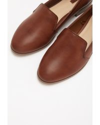 Forever 21 - Brown Faux Leather Loafers - Lyst