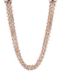 Anne Klein | Metallic Crystal Multi-chain Collar Necklace | Lyst