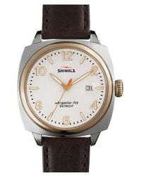 Shinola | Brown 'the Brakeman' Leather Strap Watch for Men | Lyst