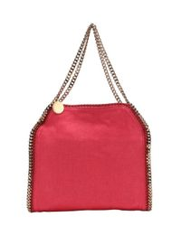 Stella McCartney - Pink Fuchsia Canvas 'falabella' Chain Link Shoulder Bag - Lyst