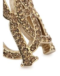 Roberto Cavalli - Metallic Rc Luxe Swarovski Crystal Ring - Lyst