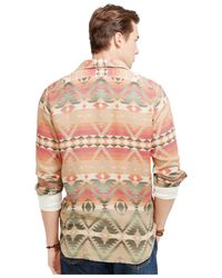 Polo Ralph Lauren - Orange Printed Jacquard Workshirt for Men - Lyst