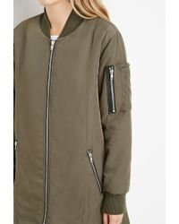 Forever 21 | Brown Oversized Bomber Jacket | Lyst