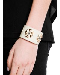 Mango | White Touch Triangular Studs Cuff | Lyst