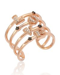 Le Vian | Pink 14k Rose Gold Chocolate-and-vanilla Diamond Love Ring | Lyst