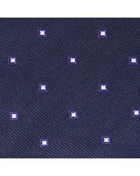 John Lewis - Purple Navy Base Square Print Silk Tie for Men - Lyst