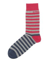 Björn Borg | Blue Divided Stripe Socks for Men | Lyst