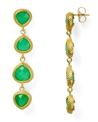 Coralia Leets | Green Sequence Teardrop Earrings | Lyst