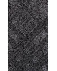 Burberry - Gray Tonal Check Silk Tie for Men - Lyst