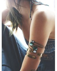 Free People | Metallic Womens Metal Armband Duo | Lyst