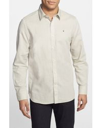 Victorinox | Natural 'villamont' Tailored Fit Linen & Cotton Sport Shirt for Men | Lyst