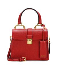 Miu Miu - Red Leather Shoulder Bag - Lyst