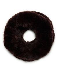 Tory Burch - Brown Original Fur Funnel - Lyst