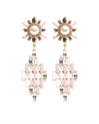 Shourouk - Pink Cobra Earrings - Lyst