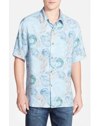 Tommy Bahama | Blue 'breaking Waves' Original Fit Short Sleeve Sport Shirt for Men | Lyst