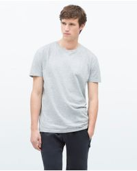 Zara | Gray Relax Fit T-shirt for Men | Lyst