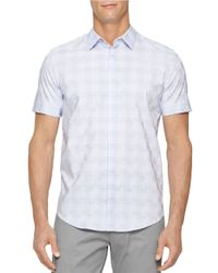 Calvin Klein | Purple Checkerboard Dobby Sportshirt for Men | Lyst