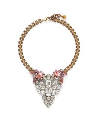 Lulu Frost | Metallic '50 Year Vintage' Crystal Stone Necklace | Lyst