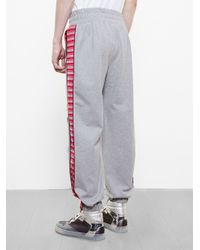 James Long - Gray Patchwork Track Pants for Men - Lyst